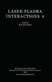 Laser-Plasma Interactions 4