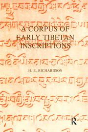 A Corpus of Early Tibetan Inscriptions