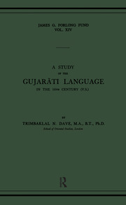A Study of the Gujarati Language in the XVth Century