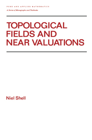 Topological Fields and Near Valuations