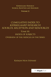 Cumulative Index to Kierkegaard Research: Sources, Reception and Resources