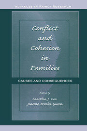 Conflict and Cohesion in Families: Causes and Consequences