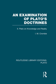 An Examination of Plato's Doctrines Vol 2 (RLE: Plato): Volume 2 Plato on Knowledge and Reality