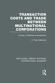 Transaction Costs & Trade Between Multinational Corporations (RLE International Business)