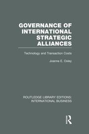 Governance of International Strategic Alliances (RLE International Business): Technology and Transaction Costs