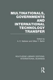 International Knowledge Transfers and Competitiveness: Canada as a Case Study