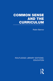Common Sense and the Curriculum