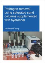 Pathogen removal using saturated sand columns supplemented with hydrochar