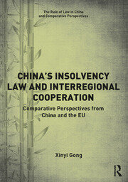 China's Insolvency Law and Interregional Cooperation: Comparative Perspectives from China and the EU