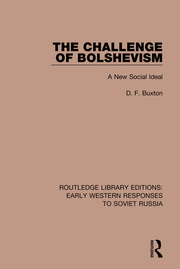 The Challenge of Bolshevism: A New Social Deal