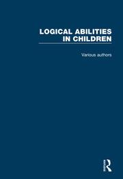 Logical Abilities in Children: 4 Volume Set