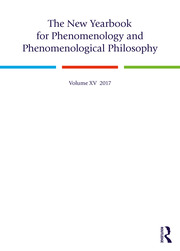 The New Yearbook for Phenomenology and Phenomenological Philosophy: Volume 15
