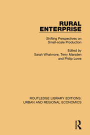 Rural Enterprise: Shifting Perspectives on Small-scale Production