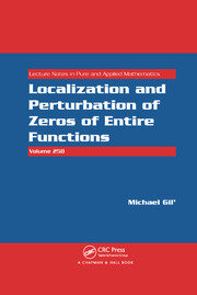 Localization and Perturbation of Zeros of Entire Functions