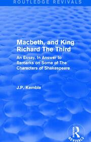Macbeth, and King Richard The Third