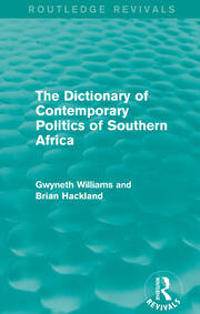 The Dictionary of Contemporary Politics of Southern Africa