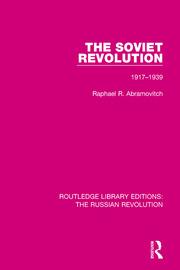The Soviet Revolution, 1917-1939