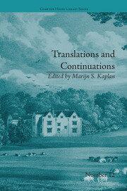 Translations and Continuations: Riccoboni and Brooke, Graffigny and Roberts