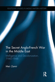 The Secret Anglo-French War in the Middle East: Intelligence and Decolonization, 1940-1948