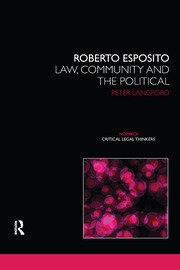 Roberto Esposito: Law, Community and the Political