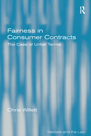 Fairness in Consumer Contracts: The Case of Unfair Terms