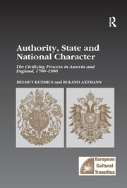 Authority, State and National Character: The Civilizing Process in Austria and England, 1700–1900