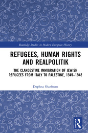 Refugees, Human Rights and Realpolitik: The Clandestine Immigration of Jewish Refugees from Italy to Palestine, 1945-1948