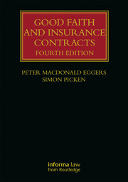 Good Faith and Insurance Contracts