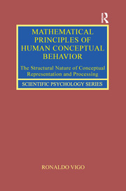 Mathematical Principles of Human Conceptual Behavior: The Structural Nature of Conceptual Representation and Processing
