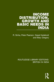 Income Distribution, Growth and Basic Needs in India