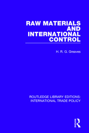 Raw Materials and International Control
