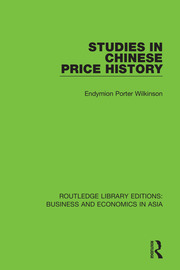 Studies in Chinese Price History