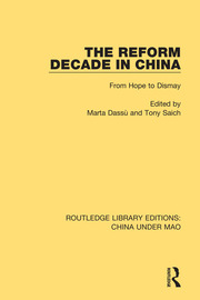 The Reform Decade in China: From Hope to Dismay