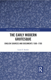 Featured Title - The Early Modern Grotesque, Semler - 1st Edition book cover