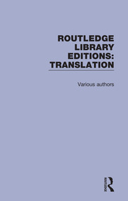 Routledge Library Editions: Translation