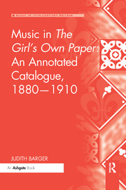 Music in The Girl's Own Paper: An Annotated Catalogue, 1880–1910