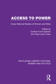 Access to Power: Cross-National Studies of Women and Elites