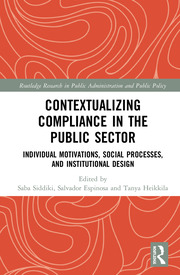 Contextualizing Compliance in the Public Sector: Individual Motivations, Social Processes, and Institutional Design