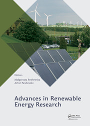 Advances in Renewable Energy Research