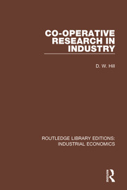 Co-operative Research in Industry