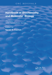 Handbook of Biochemistry: Section C Lipids Carbohydrates & Steroids, Volume l