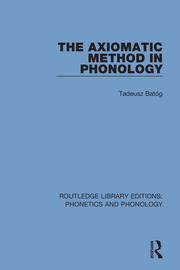 The Axiomatic Method in Phonology
