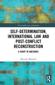 Self-Determination, International Law and Post-Conflict Reconstruction: A Right in Abeyance