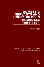 Domestic Servants and Households in Rochdale: 1851-1871