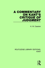 A Commentary on Kant's Critique of Judgement