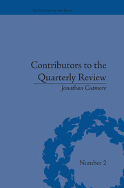 Contributors to the Quarterly Review: A History, 1809-25
