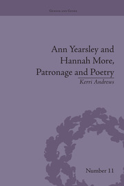 Ann Yearsley and Hannah More, Patronage and Poetry: The Story of a Literary Relationship