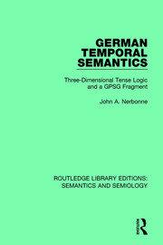 German Temporal Semantics: Three-Dimensional Tense Logic and a GPSG Fragment