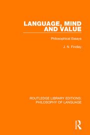 Language, Mind and Value: Philosophical Essays