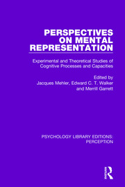 Perspectives on Mental Representation: Experimental and Theoretical Studies of Cognitive Processes and Capacities